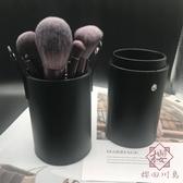化妝刷桶 收納筒美妝刷子桶收納盒 桌面彩妝桶化妝刷桶【櫻田川島】