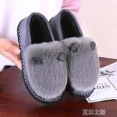 毛毛鞋-新款冬季女鞋加厚絨保暖豆豆鞋韓版百搭棉鞋防滑學生女 夏沫之戀