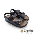 【樂樂童鞋】【台灣製現貨】MIT寬帶涼鞋-黑 C036-2 - 現貨 台灣製 涼鞋 大童鞋 男童鞋 女童鞋