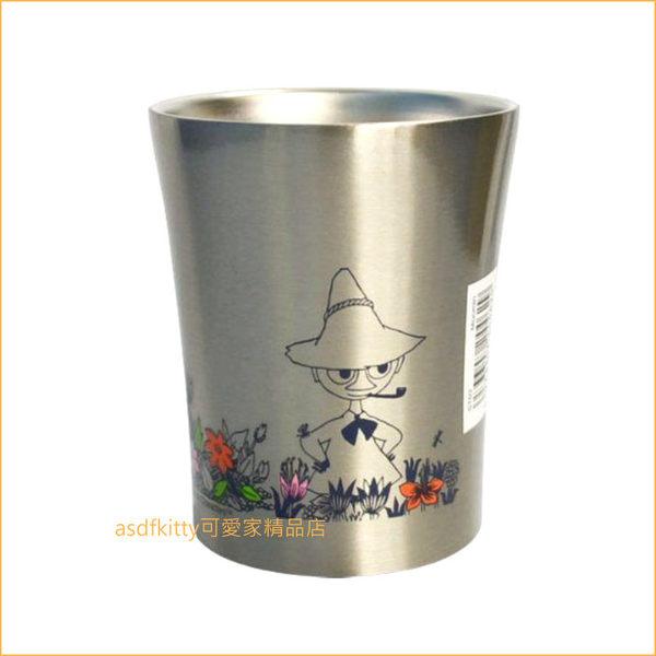 asdfkitty可愛家☆MOOMIN 嚕嚕米花園不流汗真空不鏽鋼保冷保溫杯-250ML-不燙手-日本正版商品