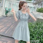 短洋裝 夏裝新款韓版時尚甜美溫柔輕熟風顯瘦a字收腰氣質短洋裝女 【全館免運】