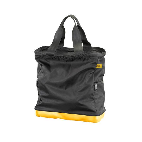 Crash Baggage Bump Bags Collection 前衛霧面 龐克系列 防潑水 托特包 / 側背包(黑色提袋 - 加州黃硬殼)