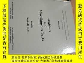 二手書博民逛書店gilgit罕見manuscripts in the national archives of india fac