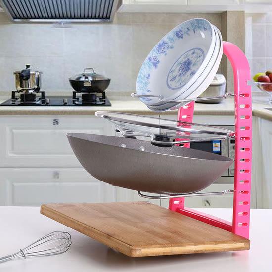 ✭米菈生活館✭【W40】廚房多層置物架 收納 整理 分類 鍋具 碗盤 鍋蓋 瀝水 砧板 清潔 瀝乾 衛生