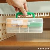 日本進口迷你急救箱便攜式小藥箱塑料家用小薬箱藥品收納盒醫藥箱 创意家居