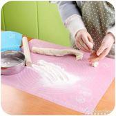 廚房烘焙工具硅膠揉面墊大號案板 加厚和面墊子搟面硅膠墊  igo