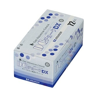 【馬印UMAJIRUSH】日本製 DX501 無毒 無塵粉筆 白色 24盒/件