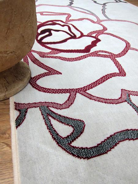 范登伯格 赫野曼花繪系列絲質感地毯-玫瑰花(粉)100x140cm