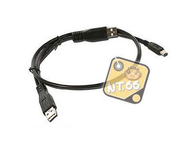Y型 USB傳輸線 2公+5pin x1 5PIN小孔外接硬碟專用線
