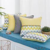 簡約現代幾何棉麻布藝北歐抱枕