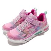 Skechers 休閒鞋 S Lights Glow Brites 發亮 燈鞋 粉 彩虹 小朋友 中童鞋 【ACS】 302306-LPKMT