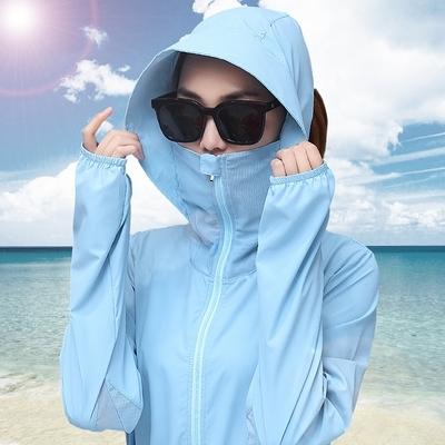 防曬衣女中長款防紫外線夏季新款海邊防曬服衫透氣薄沙灘外套TAF-11胖妹大碼女裝