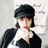 新款復古純色八角帽春夏字母畫家帽英倫女報童帽韓版鴨舌貝雷帽子