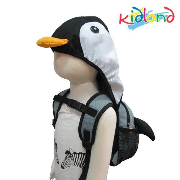 KIDLAND 動物兒童連帽防走失後背包-企鵝 R-AYI-17111