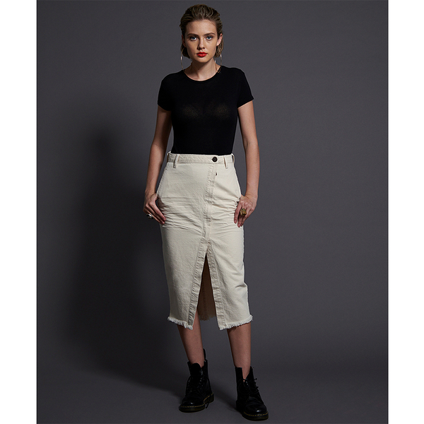 ONETEASPOON WW NASHVILLE CREAM SOCIETY SKIRT 牛仔短裙- (女)