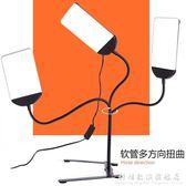 3檔調光軟管燈桌面便攜LED打光燈大范圍補光燈 視頻美食攝影台燈 WD WD科炫數位