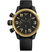 elegantsis 經典時尚情人款機械腕錶/黑x金