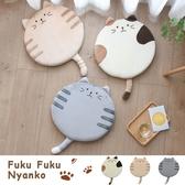促銷款坐墊 日本貓咪坐墊辦公室椅墊加厚夏天學生教室屁股墊家用圓形電腦椅墊