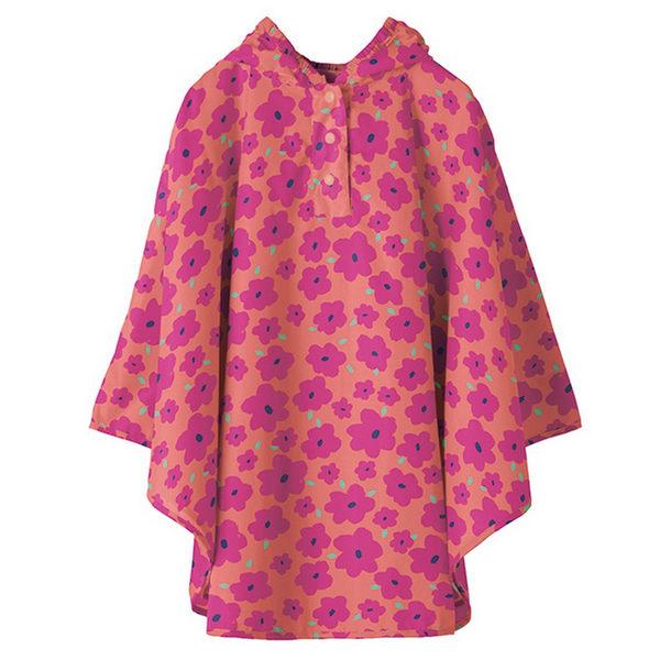 日本KIU 30043S 粉紅哈娜 空氣感兒童雨衣/披風式/寶寶雨披/防水披肩/斗篷 附收納袋(80cm+)