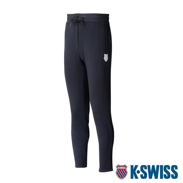 K-SWISS 5 Stripe Straight Pants運動長褲-男-黑