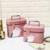化妝包大容量小號便攜簡約可愛淑女收納包專業手提旅行防水化妝箱