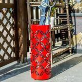 北歐創意家用落地式雨傘收納桶酒店商用瀝水架居家新品放置收納架CY  【PINKQ】