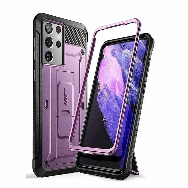 SUPCASE Unicorn Beetle Pro 手機保護殼 適用Galaxy S21 Ultra 黑/紅/藍/紫 [2美國直購]