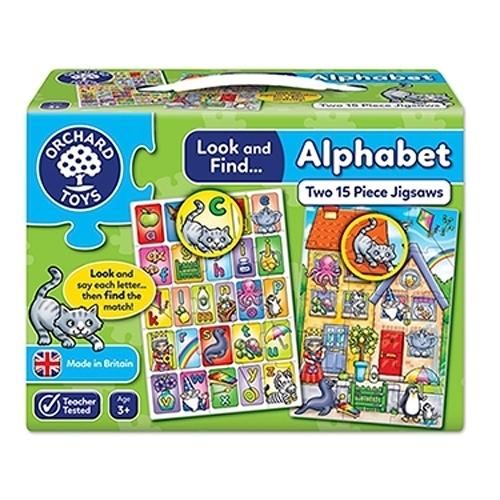 【英國Orchard Toys】小偵探拼圖-字母認知