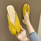 半拖鞋女時尚2021夏季新款外穿韓版包頭分趾豬腳網紅懶人涼拖鞋潮 滿天星