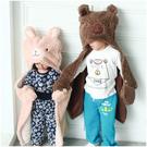 羊駝造型包巾 羊羔絨 抱枕 多功能包巾 包被 被毯 毛毯 安撫巾 男寶寶 女寶寶 Augelute 50597