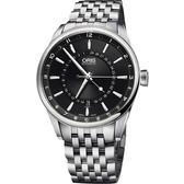 ORIS 豪利時 Artix 指針式月亮週期機械手錶-黑/42mm 0176176914054-0782180