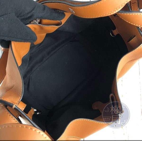 BRAND楓月 LOEWE 羅意威 焦糖光滑皮HAMMOCK SMALL 吊床包 手提包 肩背包 斜背包