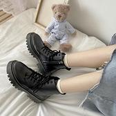 2020年新款馬丁靴女秋冬季加絨百搭英倫風拉鏈款側邊短靴低幫增高