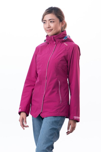 【ATUNAS 歐都納】GORE-TEX 兩件式 防風防水+羽絨保暖外套★買就贈保暖圍巾一條★(A-G1811W紫紅)女款