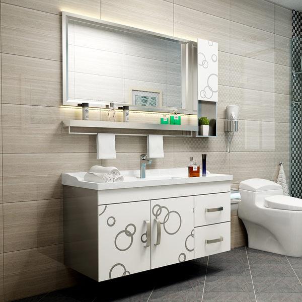 浴室櫃組合洗漱台洗手池洗臉盆櫃衛生間落地不銹鋼衛浴櫃吊櫃鏡櫃 igo 『米菲良品』
