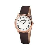 【Folli Follie】Perfect Match羅馬時尚真皮腕錶-霧感黑/WF16R013SPS_BR/台灣總代理公司貨享兩年保固
