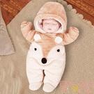 嬰兒連身衣秋冬季新生兒寶寶衣服保暖加厚套...