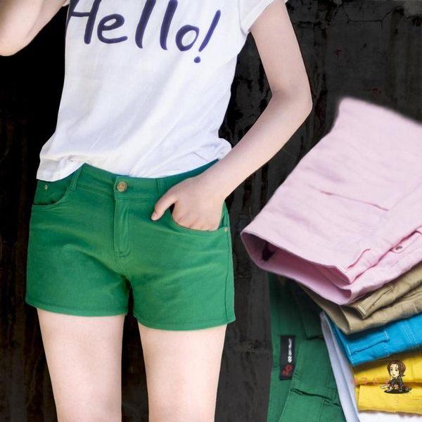 短褲 2019新款休閒夏天糖果色大碼白色短褲女熱褲韓版高彈力棉質春夏季 15色S-5XL