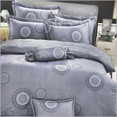 【i-Fine艾芳】精梳棉 雙人床包被套組 台灣精製 ~時尚花筒/藍~