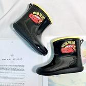 《7+1童鞋》皮克斯 閃電麥坤 防水止滑雨靴 雨鞋 A778 黑色