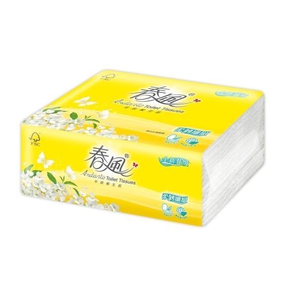 【春風】平版衛生紙柔韌細緻300張6包6串/箱-箱購