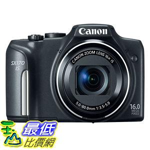 [103 美國直購 ShopUSA] 相機 Canon PowerShot SX170 IS16.0MP Digital Camera with 16xOptical Zoom and 720pHD Video(Black)