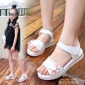 女童涼鞋夏季2020新款中大童公主鞋小女孩軟底女童鞋子兒童沙灘鞋 依凡卡時尚