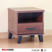 【RICHOME】科隆床頭櫃-2色柚木色