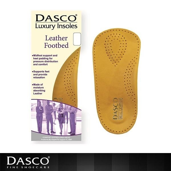 【南紡購物中心】DASCO 皮革足弓矯正鞋墊