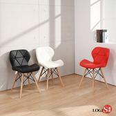 LOGIS邏爵- 摩登伊姆斯餐椅 /工作椅/休閒椅/書桌椅/北歐風 X666(3入)