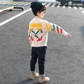 童裝男童毛衣套頭秋冬款2019新款洋氣小兒童冬裝水貂絨加絨加厚潮