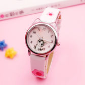 兒童手錶女孩日本溫暖小萌貓清新起司私房貓可愛卡通學生石英手錶【快速出貨八折優惠】