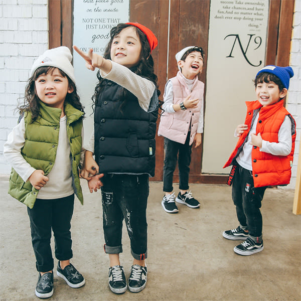 兒童羽絨棉背心外套/羽絨外套/馬甲背心/男女童裝