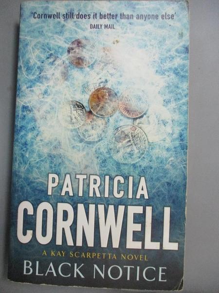 【書寶二手書T9/原文小說_CI6】Black Notice_Patricia Daniels Cornwell